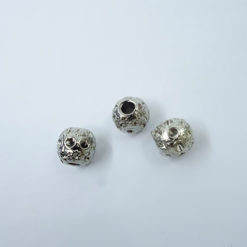 metal cord end ball with pattern