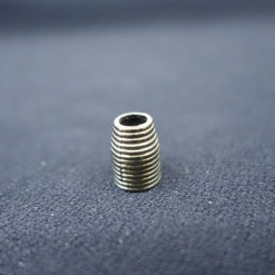 cord end with gold metal pattern